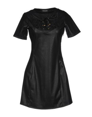 Twin-Set | Черный Женское черное короткое платье TWINSET Кружево | Clouty