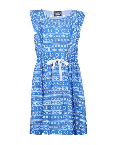 Boutique Moschino | Лазурный Женское лазурное платье до колена BOUTIQUE MOSCHINO Кружево | Clouty