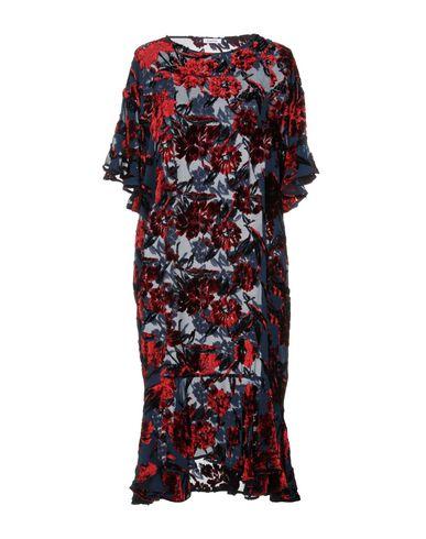 P.A.R.O.S.H. | Темно-синий Женское темно-синее платье до колена P.A.R.O.S.H. креп | Clouty