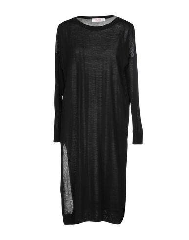 Jucca | Черный Женское черное платье до колена JUCCA вязаное изделие | Clouty