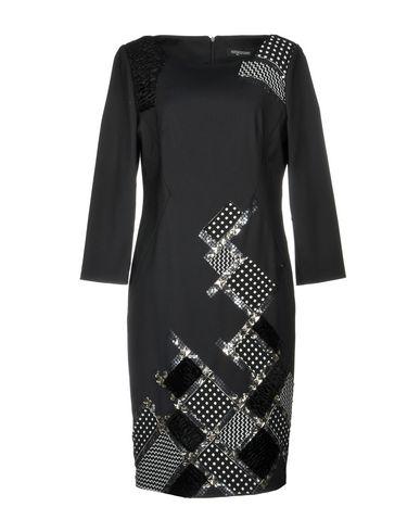 Maria Grazia Severi | Черный Женское черное платье до колена MARIA GRAZIA SEVERI джерси | Clouty