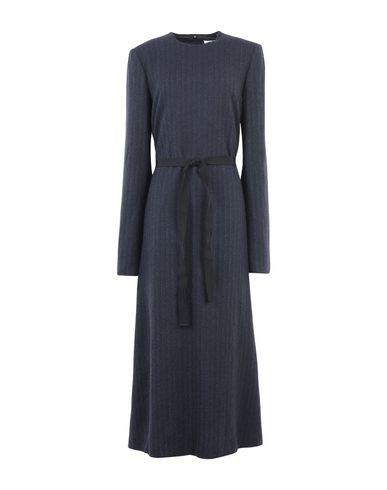 Maison Margiela | Темно-синий Темно-синее длинное платье MAISON MARGIELA фланель | Clouty