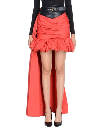 MOSCHINO | Красный Женская красная юбка до колена MOSCHINO искусственная кожа | Clouty