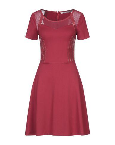 Silvian Heach | Красный Красное короткое платье SILVIAN HEACH искусственная кожа | Clouty