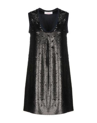 Jucca | Черный Женское черное короткое платье JUCCA Креп | Clouty