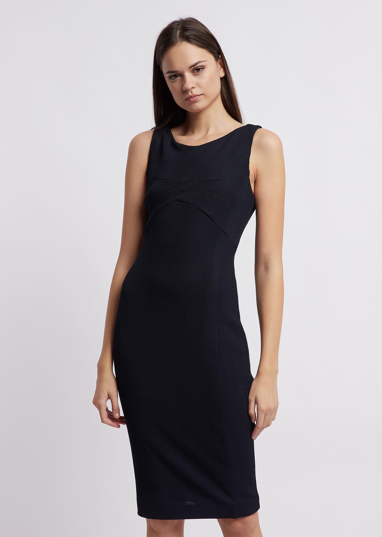 Emporio Armani | Платье-футляр из уплотненного джерси | Clouty