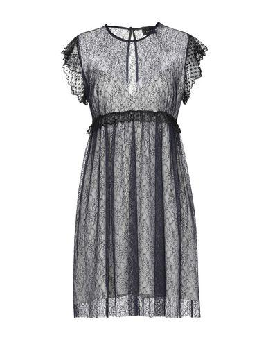 (A.S.A.P.) | Темно-синий Темно-синее короткое платье (A.S.A.P.) креп | Clouty