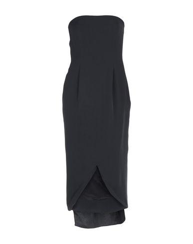 Oscar De La Renta | Черный Женское черное платье до колена OSCAR DE LA RENTA Креп | Clouty