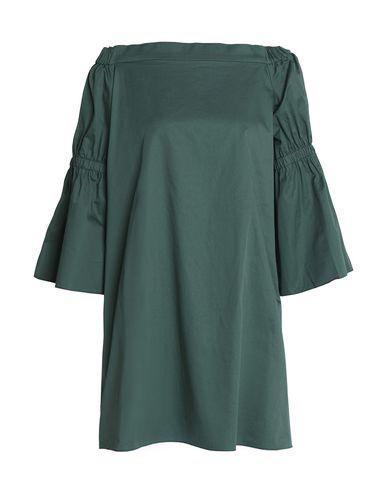TIBI   Темно-зеленый; Темно-синий; Белый Темно-зеленое короткое платье TIBI плотная ткань   Clouty