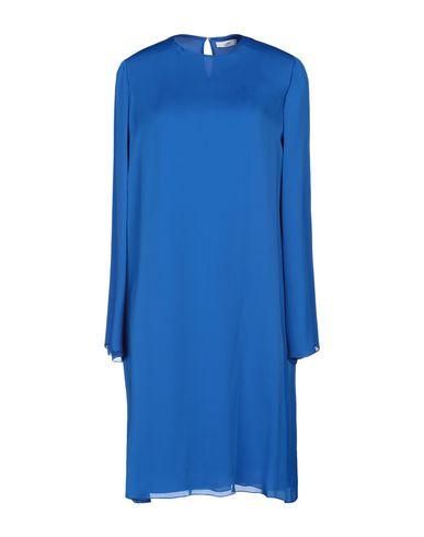 The Row | Синий Синее платье до колена THE ROW креп | Clouty