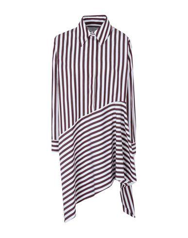 MARQUES'ALMEIDA   Баклажанный Баклажанное короткое платье MARQUES' ALMEIDA плотная ткань   Clouty