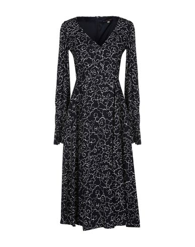 ALEXACHUNG | Черный Женское черное платье до колена ALEXACHUNG шелк-кади | Clouty
