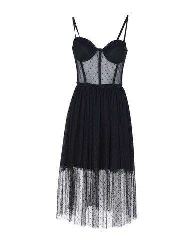 Ermanno Ermanno Scervino | Черный Женское черное платье до колена ERMANNO DI ERMANNO SCERVINO тюль | Clouty