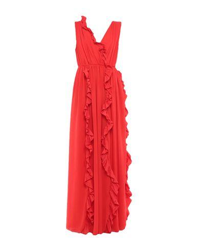 MSGM | Красный Красное длинное платье MSGM тафта | Clouty