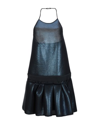 Space Style Concept | Темно-синий Женское темно-синее короткое платье SPACE STYLE CONCEPT атлас | Clouty