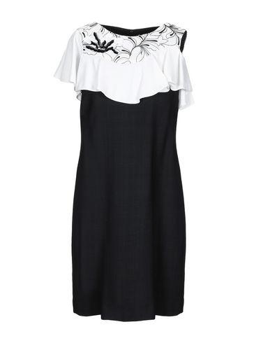 Maria Grazia Severi | Черный Женское черное короткое платье MARIA GRAZIA SEVERI плотная ткань | Clouty