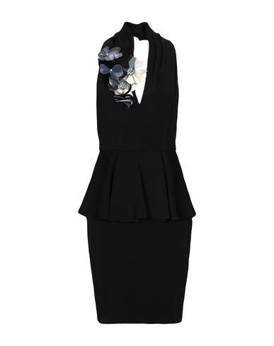 Space Style Concept | Черный Женское черное короткое платье SPACE STYLE CONCEPT креп | Clouty