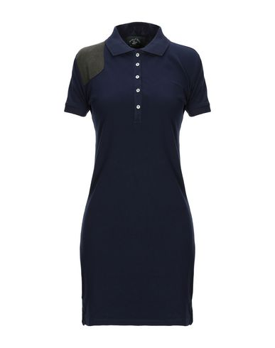 Beverly Hills Polo Club | Темно-синий Женское темно-синее короткое платье BEVERLY HILLS POLO CLUB химическое волокно | Clouty