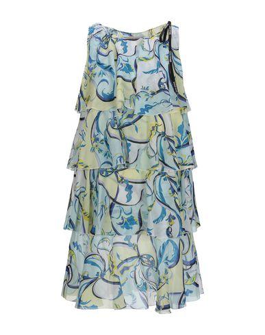 Emilio Pucci | Небесно-голубой Женское короткое платье EMILIO PUCCI плотная ткань | Clouty