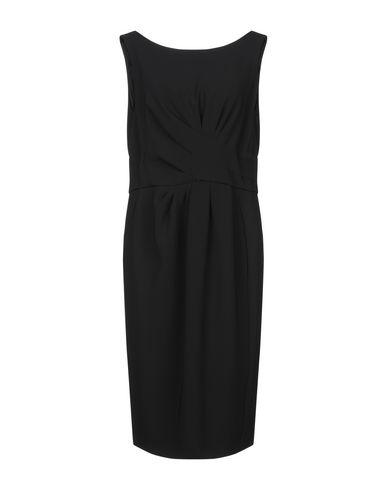 MOSCHINO | Черный Женское черное платье до колена MOSCHINO креп | Clouty