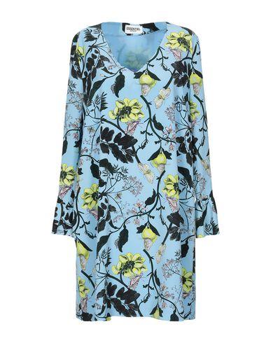 Essentiel Antwerp   Небесно-голубой Женское короткое платье ESSENTIEL ANTWERP креп   Clouty