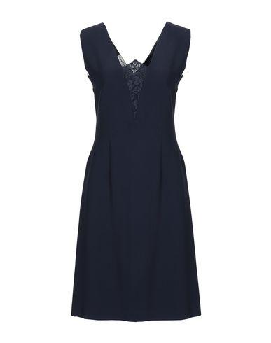 Giorgio Grati   Темно-синий Женское темно-синее платье до колена GIORGIO GRATI кружево   Clouty