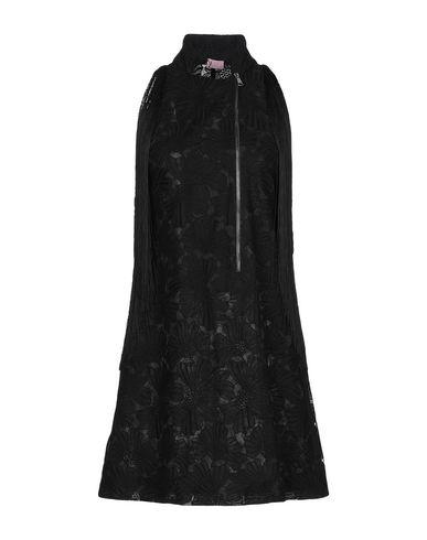 Giamba | Черный Женское черное короткое платье GIAMBA искусственная кожа | Clouty