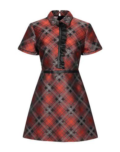 Giamba | Ржаво-коричневый Женское короткое платье GIAMBA искусственная кожа | Clouty