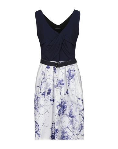 Fabrizio Lenzi | Темно-синий Темно-синее короткое платье FABRIZIO LENZI плотная ткань | Clouty