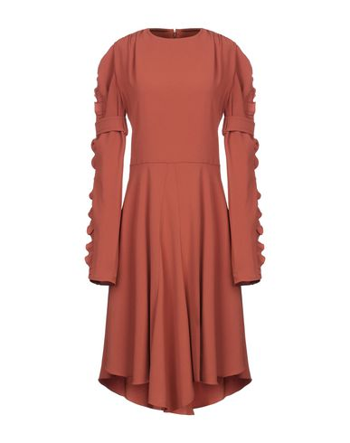 Chloé | Ржаво-коричневый Платье до колена CHLOE креп | Clouty