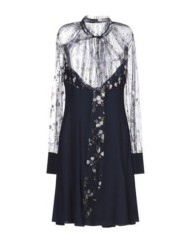 Blumarine | Темно-синий Темно-синее короткое платье BLUMARINE тюль | Clouty
