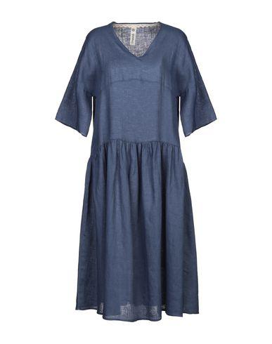 Empathie | Синий Синее платье длиной 3/4 EMPATHIE плотная ткань | Clouty
