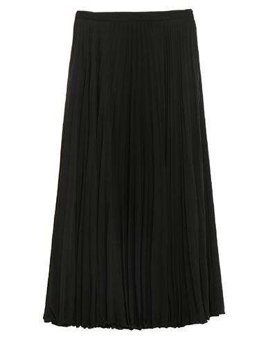 VALENTINO   Черный Черная длинная юбка VALENTINO креп   Clouty