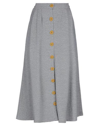 Empathie | Серый Серая юбка длиной 3/4 EMPATHIE флис | Clouty