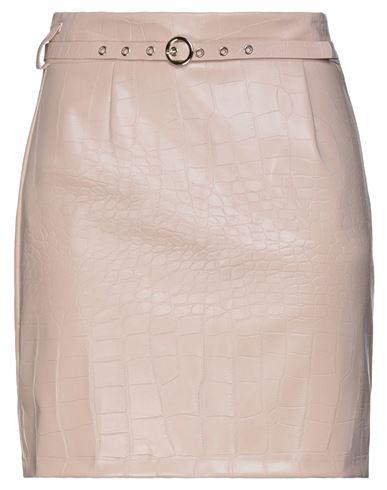 Dixie   Телесный Телесная мини юбка DIXIE искусственная кожа   Clouty