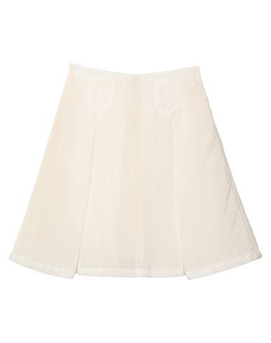 Sacai Luck | Белый Белая юбка до колена SACAI LUCK плотная ткань | Clouty