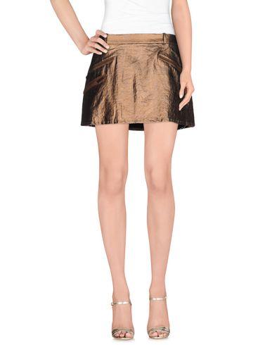 JUST CAVALLI | Бронзовый Женская бронзовая мини юбка JUST CAVALLI плотная ткань | Clouty