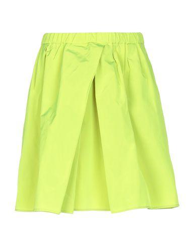 Douuod   Кислотно-зеленый Женская мини юбка DOUUOD техническая ткань   Clouty