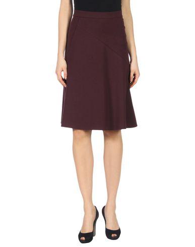 JIL SANDER   Баклажанный Женская баклажанная юбка длиной 3/4 JIL SANDER джерси   Clouty