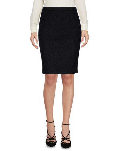 Boutique Moschino   Черный Женская черная юбка до колена BOUTIQUE MOSCHINO техническая ткань   Clouty