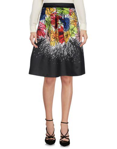 Boutique Moschino | Черный Черная юбка до колена BOUTIQUE MOSCHINO атлас | Clouty