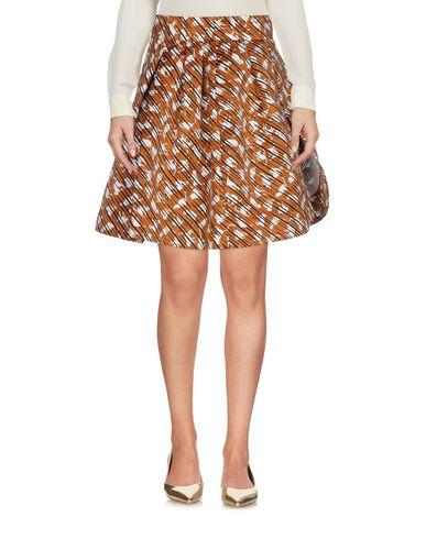 Mangano | Коричневый Женская коричневая юбка до колена MANGANO жаккардовая ткань | Clouty