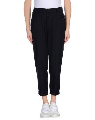 Jucca | Темно-синий Женские темно-синие повседневные брюки JUCCA фланель | Clouty