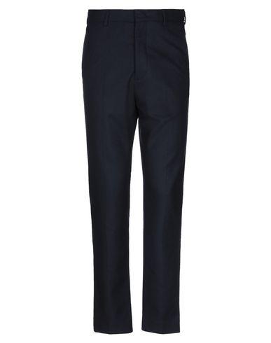 MSGM | Темно-синий; Зеленый-милитари Мужские темно-синие повседневные брюки MSGM фланель | Clouty