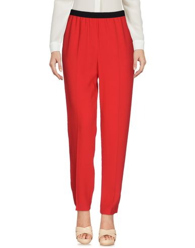 Jucca | Красный; Темно-синий Женские красные повседневные брюки JUCCA шелк-кади | Clouty