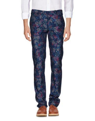 Incotex | Темно-синий Мужские темно-синие повседневные брюки INCOTEX плотная ткань | Clouty