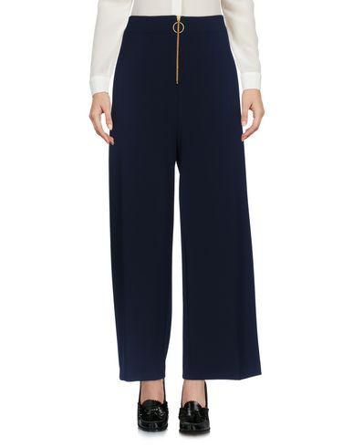 Jucca | Темно-синий Женские темно-синие повседневные брюки JUCCA твил | Clouty