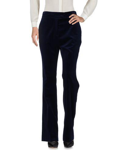 Jucca   Темно-синий; Коричневый Женские темно-синие повседневные брюки JUCCA бархат   Clouty