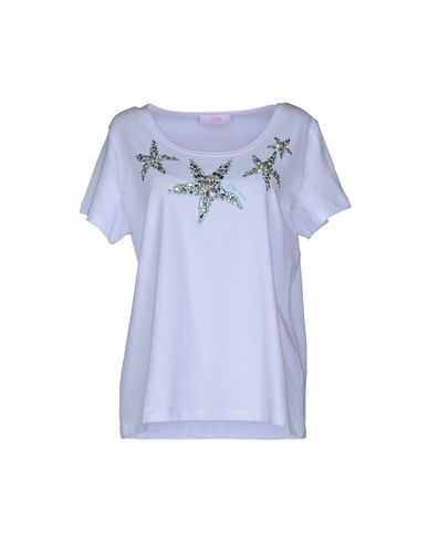 Clips More | Белый Женская белая футболка с короткими рукавами CLIPS MORE джерси | Clouty