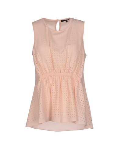 TIBI | Розовый Женская розовая майка TIBI креп | Clouty